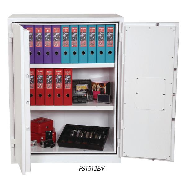 Phoenix White Fire Ranger Cabinet Size 2 Key Lock FS1512K
