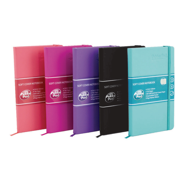 Pukka Pad Signature Soft Cover Notebook Casebound A5 Assorted (Pack of 5) 7747-SIG