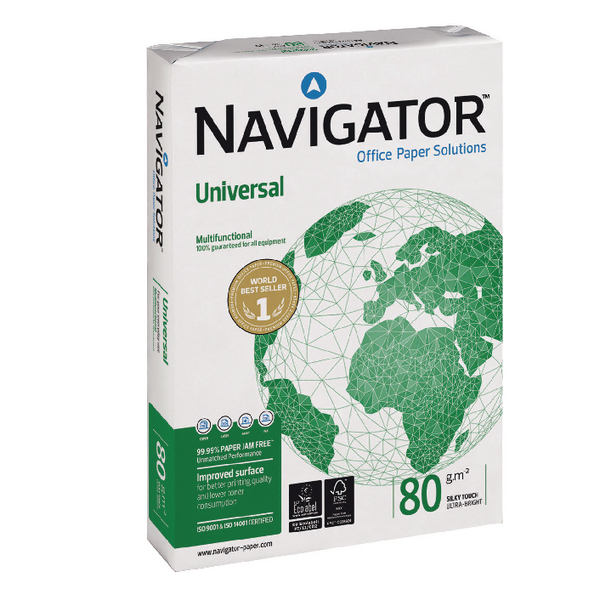 Navigator Universal A4 Paper 80gsm White (Pack of 2500) NAVA480