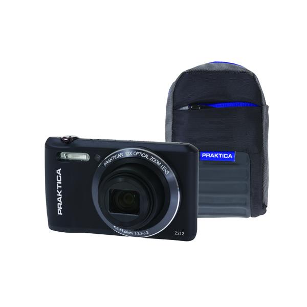 Praktica Luxmedia Z212 20mp Camera Plus 16gb Card and Case Z212-BK 16GBCASE