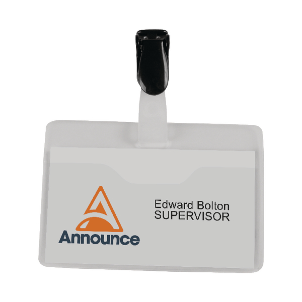 Announce Visitor Name Badge 60x90mm (Pack of 25)