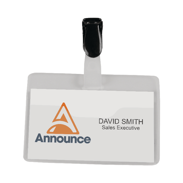 Image for Announce Security Name Badge 60x90mm (Pack of 25)