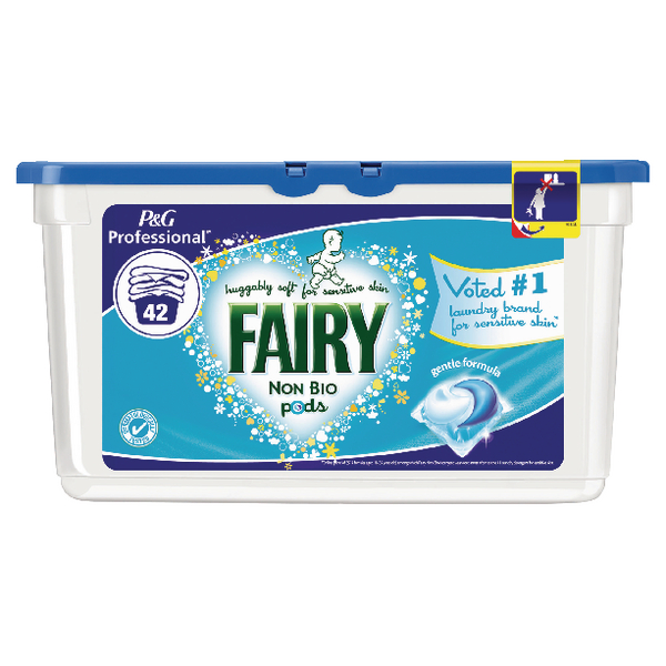 Fairy Non-Biological Liquitabs Tub of 42 (Pack of 3) 4084500799516