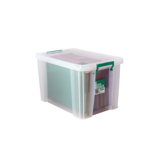 StoreStack 26 Litre Storage Box W470xD300xH290mm Clear