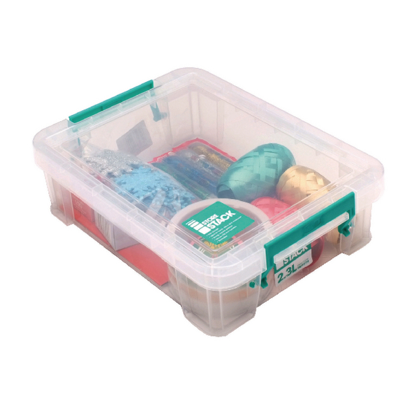 StoreStack 2.3 Litre Storage Box W260xD190xH70mm Clear RB90119