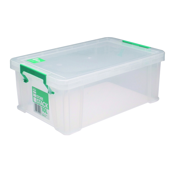 StoreStack 10 Litre Clear W400xD255xH150mm Storage Box RB90123
