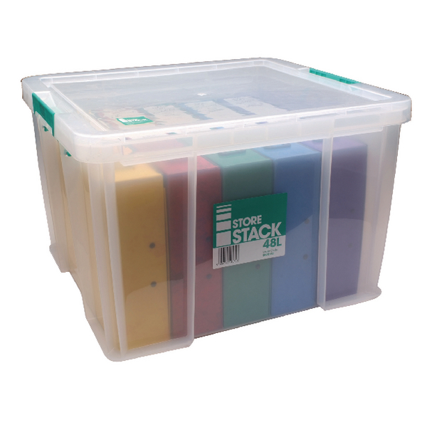 StoreStack 48 Litre Clear W490xD440xH320mm Storage Box RB90125
