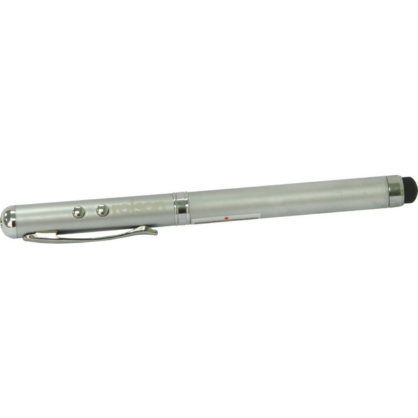 Image for Rolson 4 in 1 Laser Pointer Pen Silver 1230082