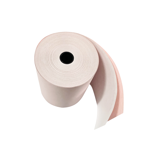 Prestige Till Rolls 2-Ply 76mm White/Pink (Pack of 20)