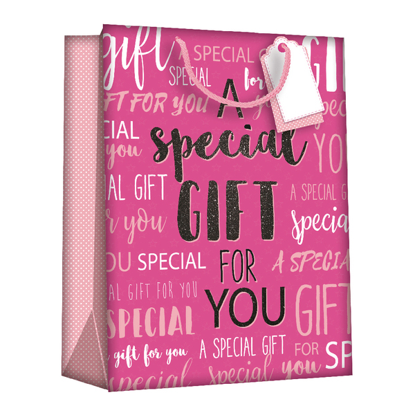 Image for Regent Gift Bags Wordy Pink Large (Pack of 6) Z723L (0)