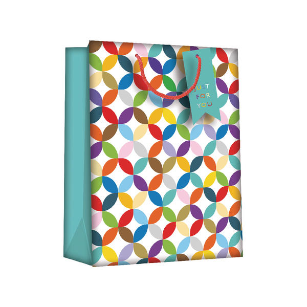 Image for Regent Gift Bags Bright Link Geometric Large (Pack of 6) Z730L (0)