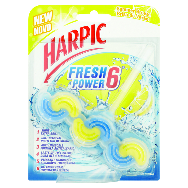 Harpic Fresh Power Rim Block Summer Breeze 39g 3022797