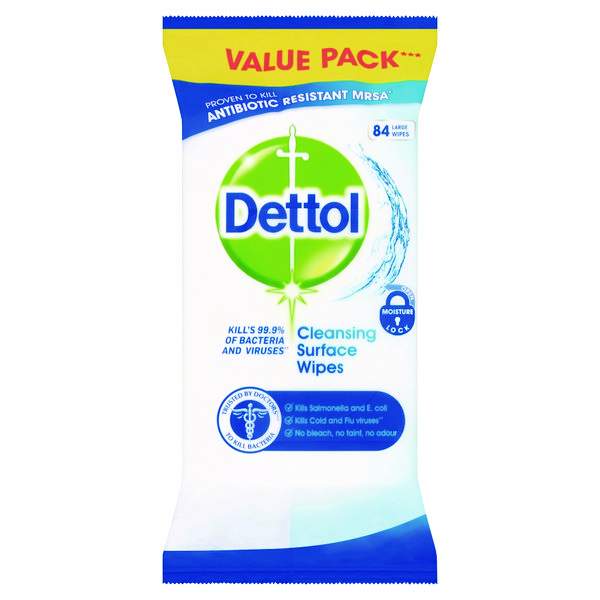 Dettol Antibacterial Surface Cleanser Wipes (Pack of 84) RB784365