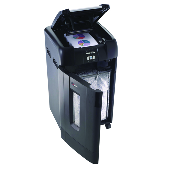 Rexel Auto+ 750X Cross Cut Shredder Black 2103750