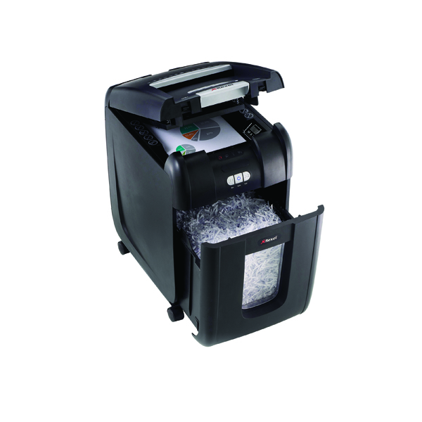 Rexel Auto+ 200X Cross Cut Shredder Black 2103175