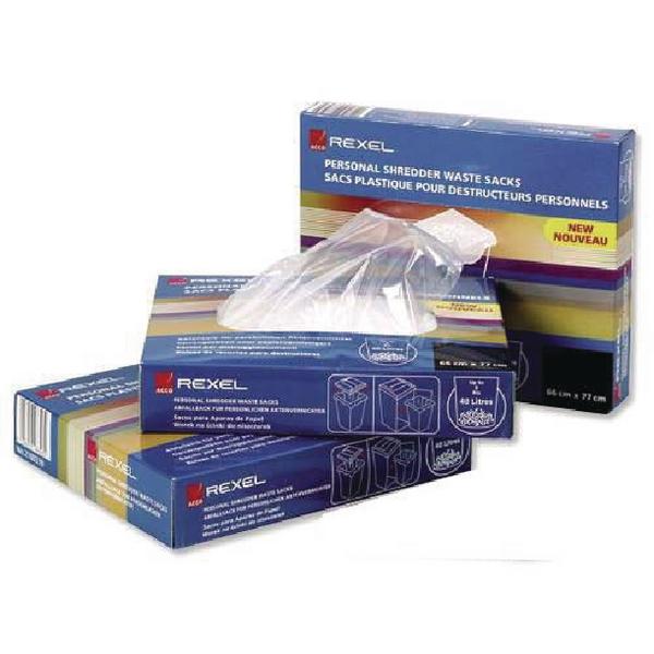 Rexel Plastic AS3000 Shredder Waste Sacks (Pack of 100) 40095