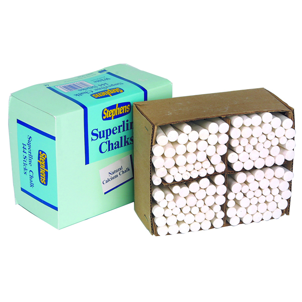 Stephens Tapered Chalk Stick White (Pack of 144)