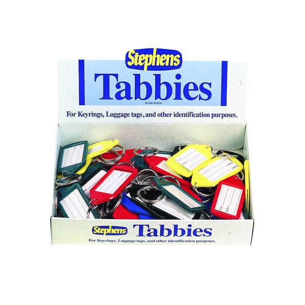Stephens Assorted Tabbies Keyrings Display (Pack of 50) RS521211