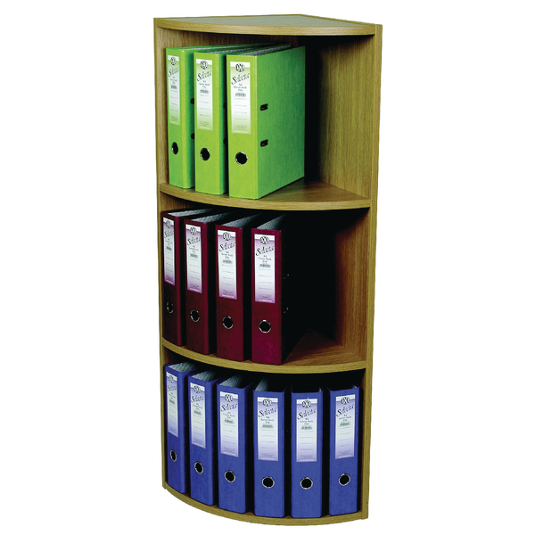 Image for Rotadex Corner Unit 3 Tier Light Oak CU20