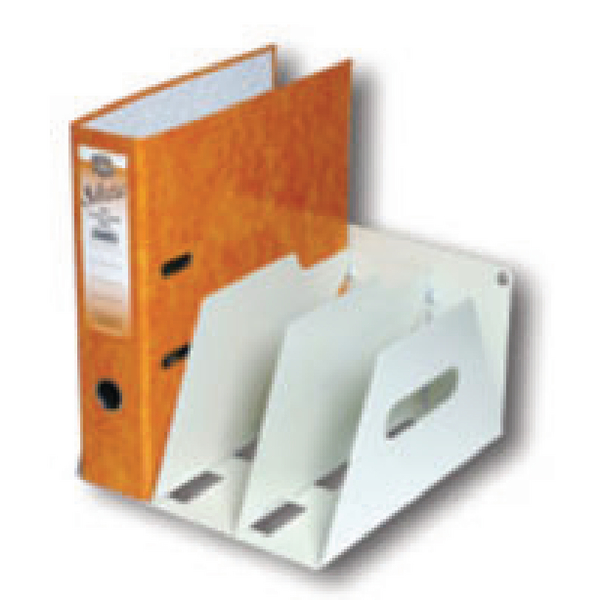 Image for Rotadex Smoke White 3 Section A4 Lever Arch Filing Unit LAR3
