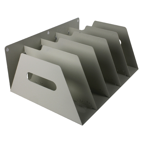 Image for Rotadex Smoke White 5 Section Lever Arch Filing Rack LAR5