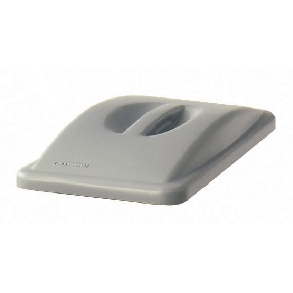Rubbermaid Grey Slim Jim Handle Top Lid