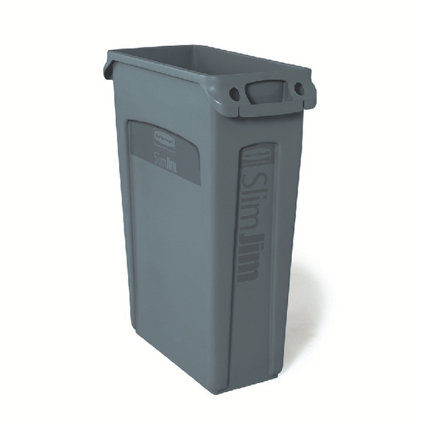 Rubbermaid Slim Jim Grey Venting Channel Container 87 Litre 3540-60-GRY