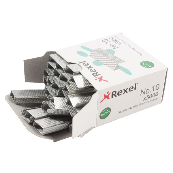 Rexel 5mm Staples No.10 (Pack of 5000)