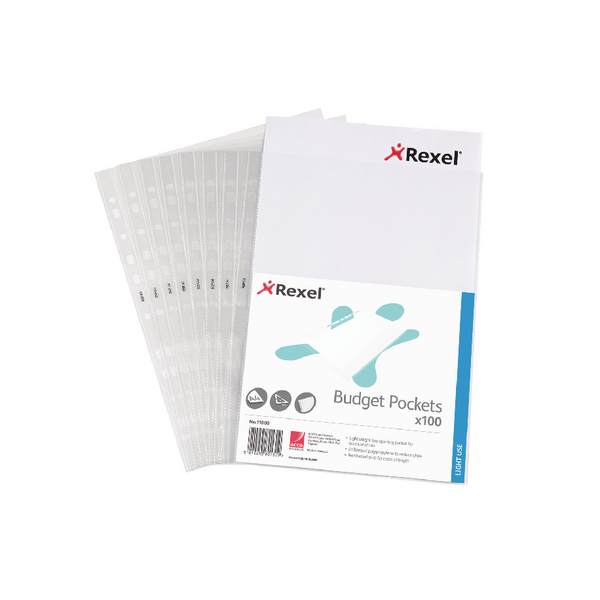 Rexel Budget Pocket A4 Clear (Pack of 100) 11000