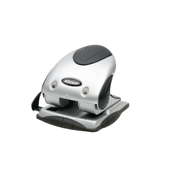 Rexel Precision P240 Hole Punch Silver/Black 2100748