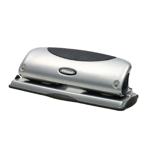 Rexel Precision P425 4 Hole Punch Black and Silver 25 Sheet 2100753