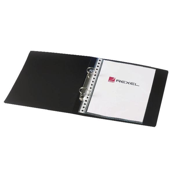 Rexel Budget 25mm 2 Ring Binder Polypropylene A5 Black (Pack of 10) 13428BK