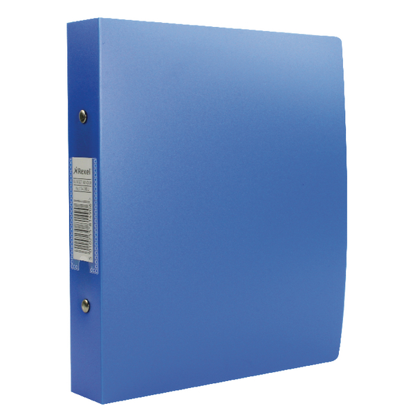 Rexel Budget 2 Ring Binder 25mm Polypropylene A5 Blue (Pack of 10) 13428BU