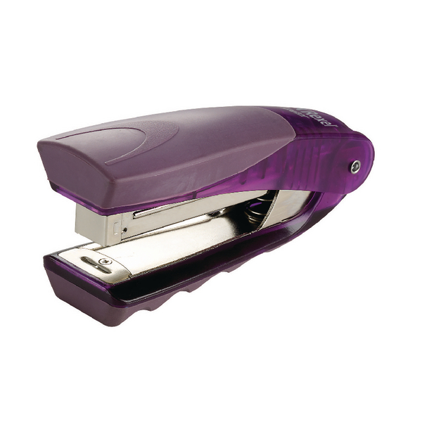 Rexel Centor Half Strip Stapler Translucent Purple 2101014