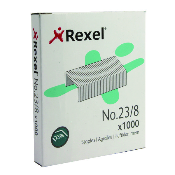 Rexel No.23 8mm Heavy Tacker Staples (Pack of 1000) 2101054