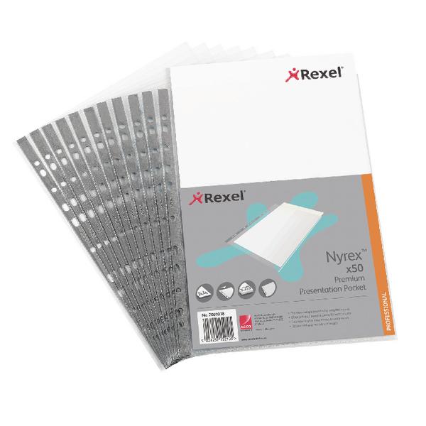 Rexel Nyrex A4 Presentation Pockets (Pack of 50) 2001018