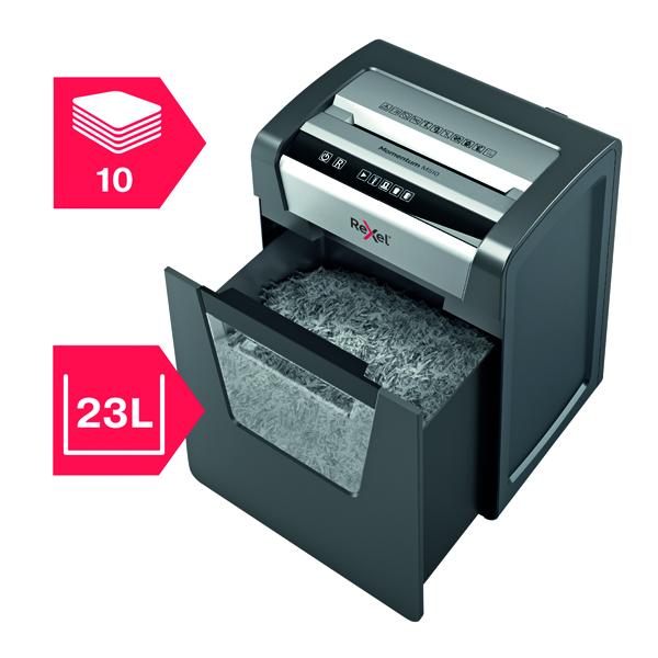Rexel Momentum M510 Shredder 2x15mm Micro Cut P-5 2104575 Ref 2104575 [REDEMPTION] Jul-Sep19
