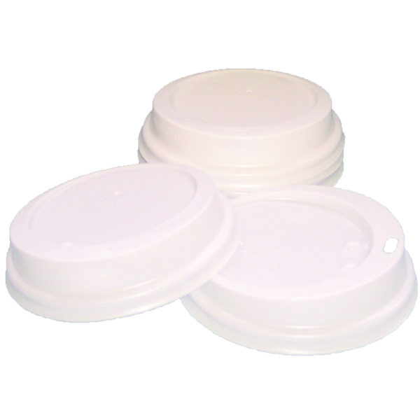Caterpack White 25cl Paper Cup Sip Lids (Pack of 100) MXPWL80