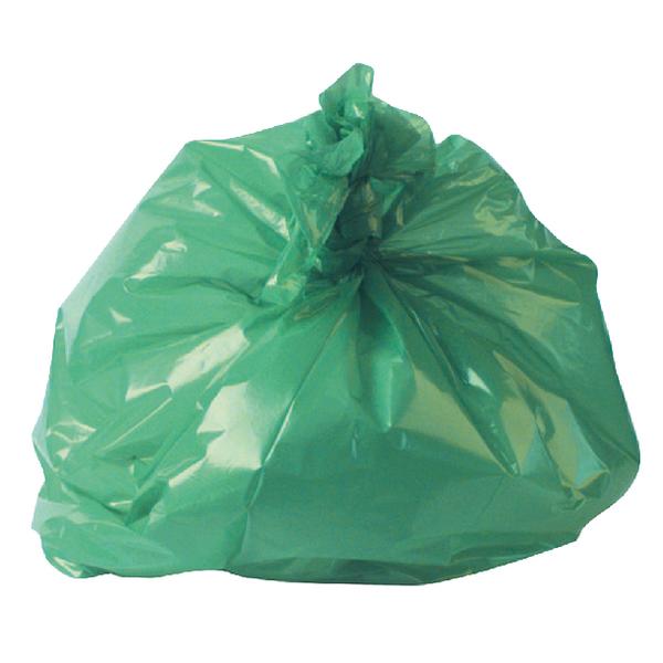 2Work Refuse Sack CHSA 10KG Green (Pack of 200) CS002