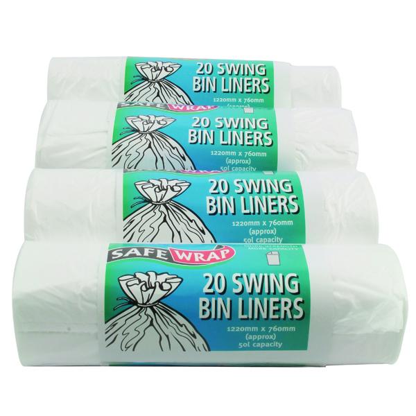 SWING BIN LINERS ROLL 20 PK4 STD 0441