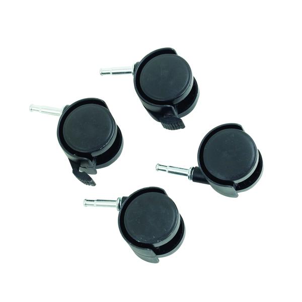 Black Castor Set For HB-4068 Box System (Pack of 4) 369048