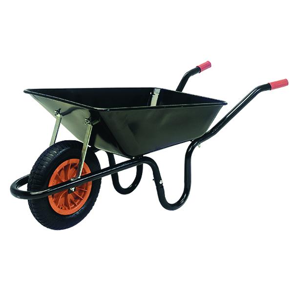 Heavy Duty Wheelbarrow 100 Litre Black (360mm pneumatic tyred) 379990