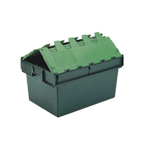 VFM Green 64 Litre Plastic Container With Lid 306598