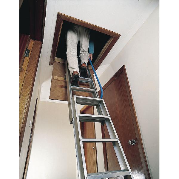 Loft Ladder 3660mm Aluminium (Adjustable floor-to-floor height 3.4m - 3.66m) 306689