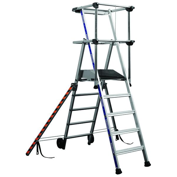 Work Platform 150kg 5 Tread Silver (1200mm fixed height work platform) 307571