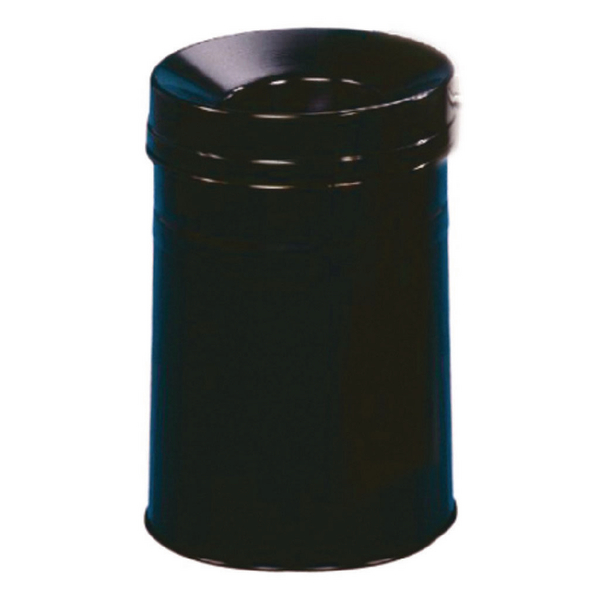 Waste Bin 30.9 Litre Fire Extinguishing Lid Black 309588