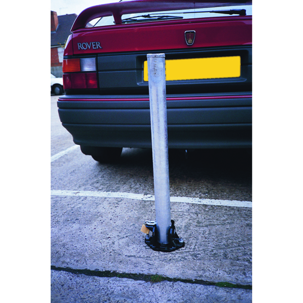 VFM Silver Economy Standfast Security Locking Parking Post 310155