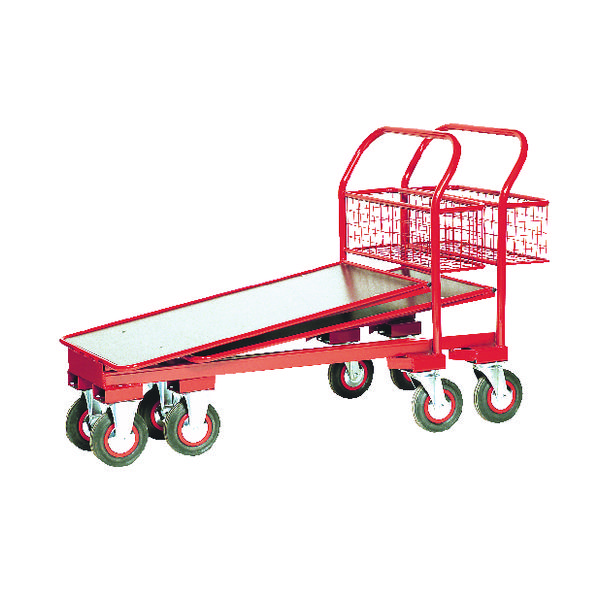 Cash and Carry Trolley 750kg Red 310791