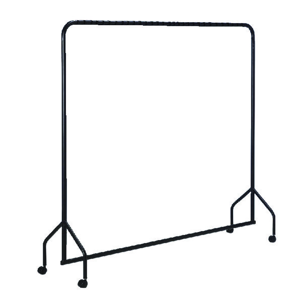 Image for VFM Black Metal Garment Rail with Castors - 311416