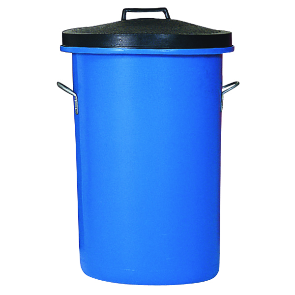 Heavy Duty Coloured Dustbin 85 Litre Blue (Dimensions: W476 x D476 x H673mm) 311963